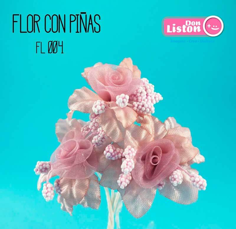 DON LISTON - flor con piñas