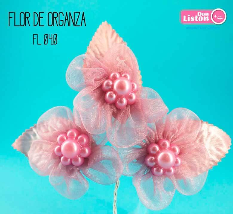 DON LISTON - flor de organza