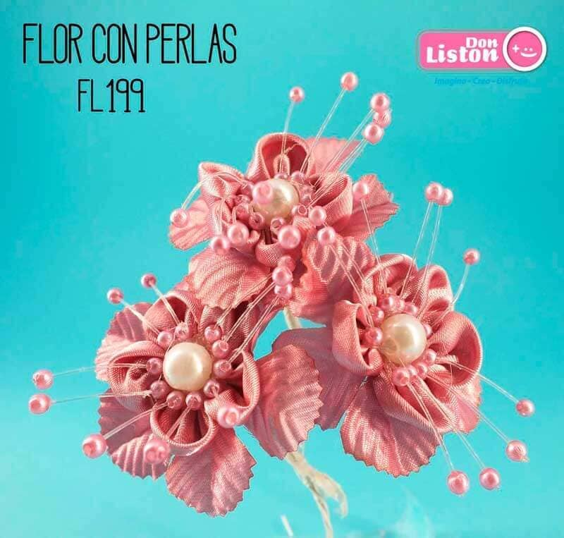 DON LISTON - flor con perlas