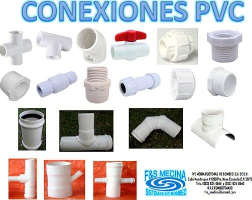 BOMBAS TUBERIAS Y ACCESORIOS SA DE CV - Conexiones PVC