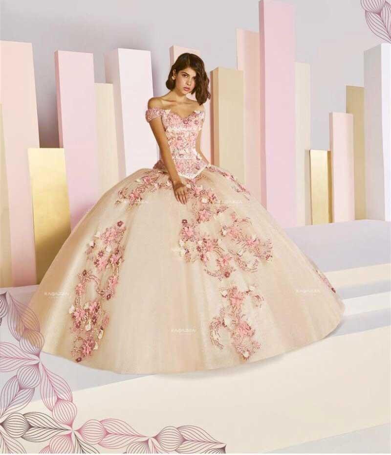 ANGIE BOUTIQUE – vestido rosa-blanco