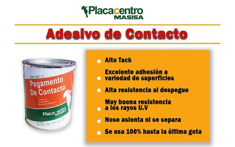 PLACACENTRO MASISA – Adhesivo de contacto