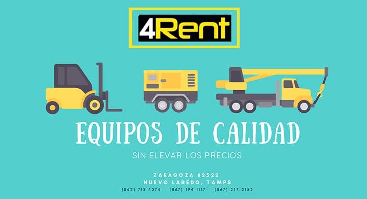 4RENT RENTA DE MAQUINARIA Y EQUIPO-Renta-de-máquinas