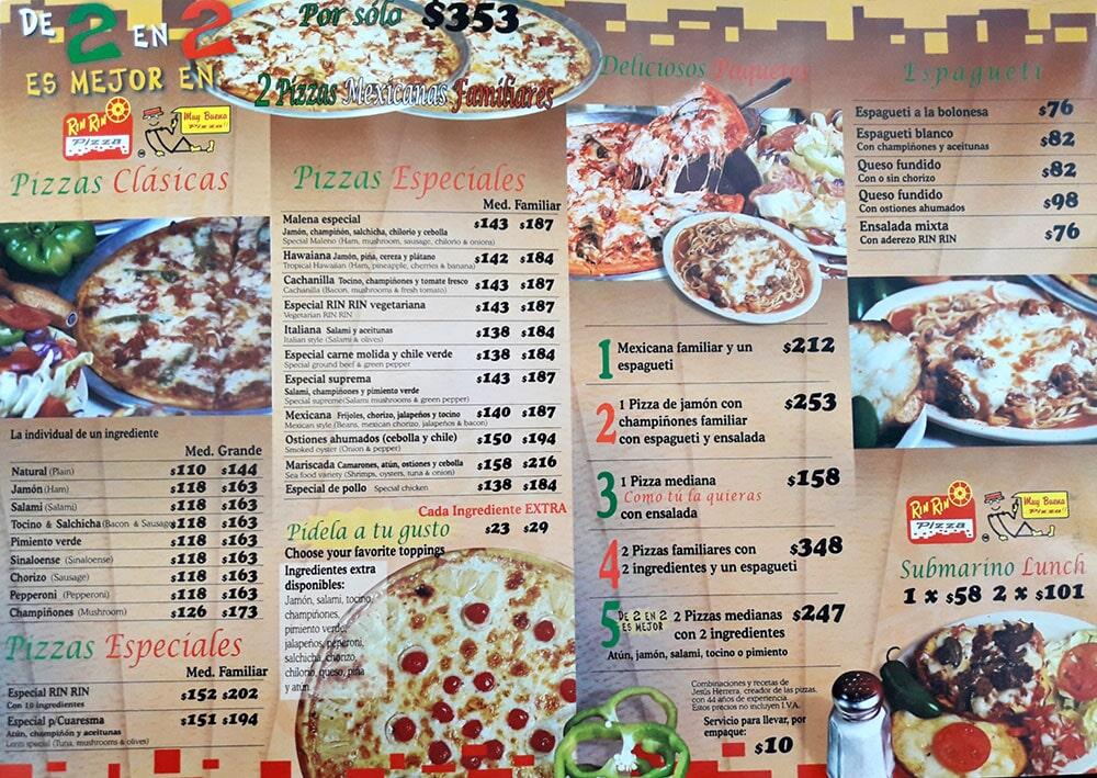 RIN RIN PIZZA- Pizza con Peperoni