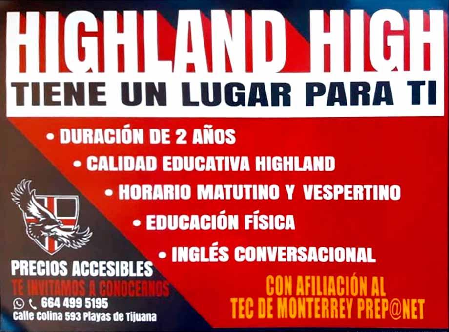 HIGHLAND HIGH  - Preescolar