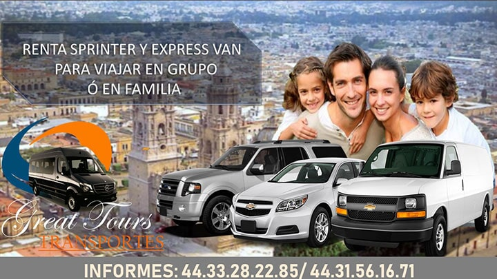 TRANSPORTES GREAT TOURS - Renta de Express Van