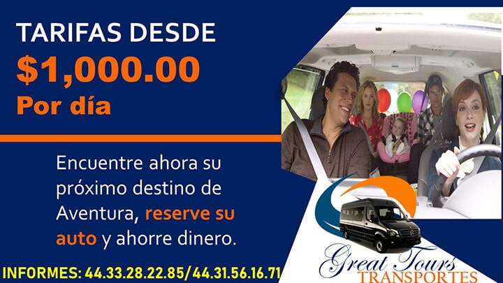 TRANSPORTES GREAT TOURS - Reserve su renta de auto