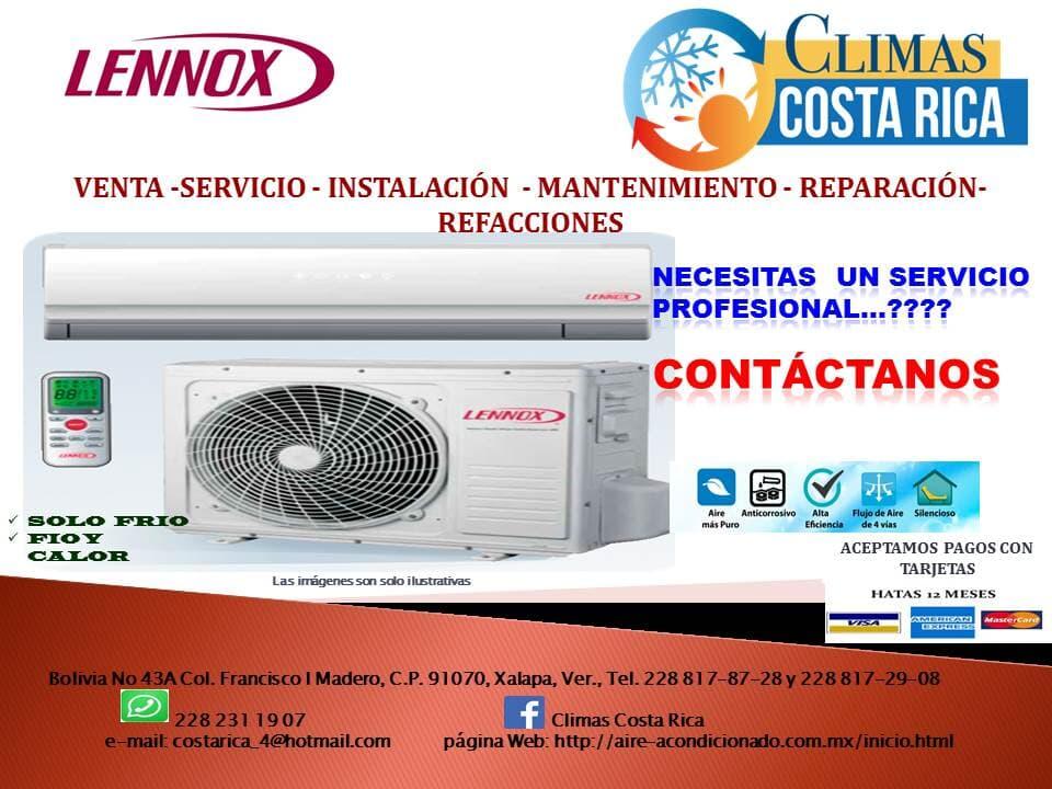 COSTA RICA AIRE ACONDICIONADO - Garantía en  los equipos y su instalación