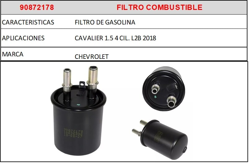 F1- 90872178 FILTRO COMBUSTIBLE