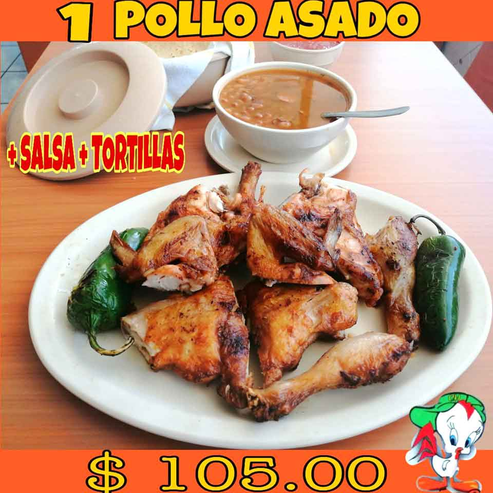 CHICKEN BOY  - Pollos Asados, salsa y tortillas