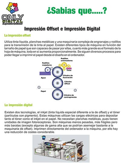 ONLY IMPRESIÓN DIGITAL - offset