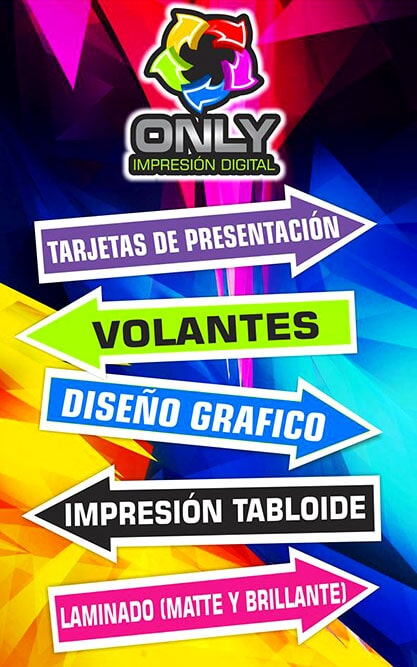 ONLY IMPRESIÓN DIGITAL - volantes