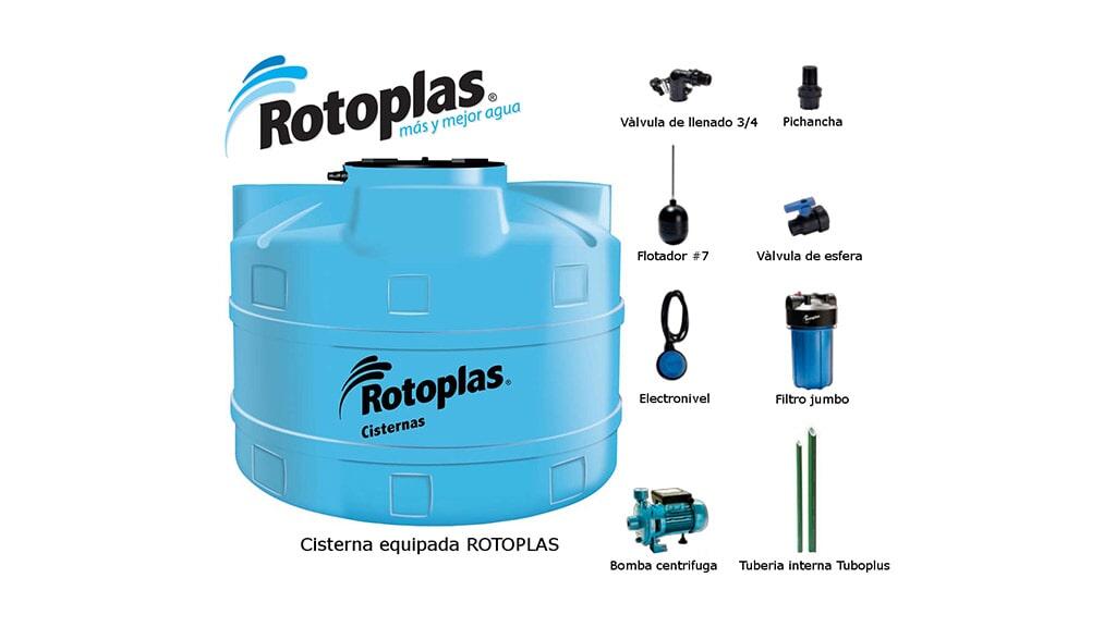 PEVSA PLOMERÍA Y ELECTRICIDAD VALLARTA-Cisterna rotoplas equipada