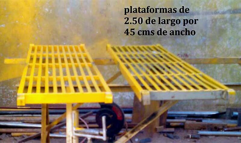 ANDAMIOS PLASA - PLATAFORMA DE 2.50X45 CMS