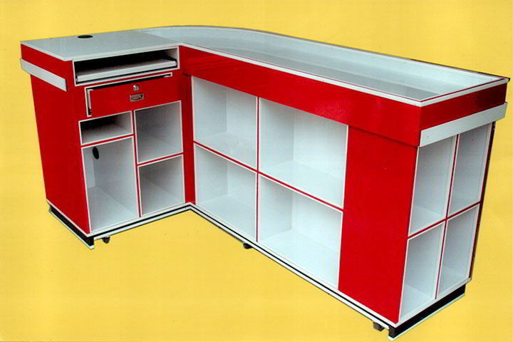 EXHIBI MUEBLES – Modulo de cobro checkout -  interior
