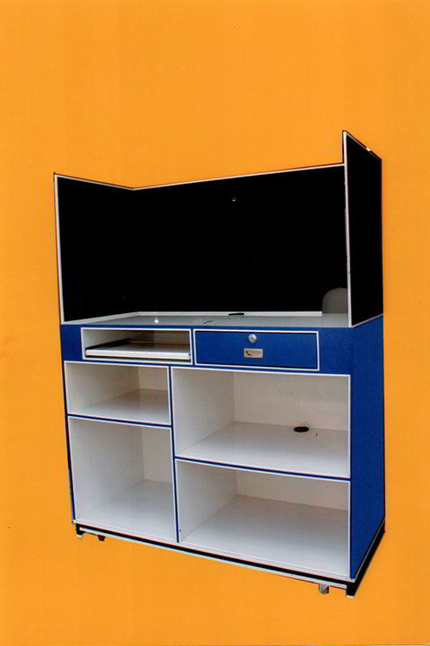 EXHIBI MUEBLES – Modulo de cobro con cancel - interior