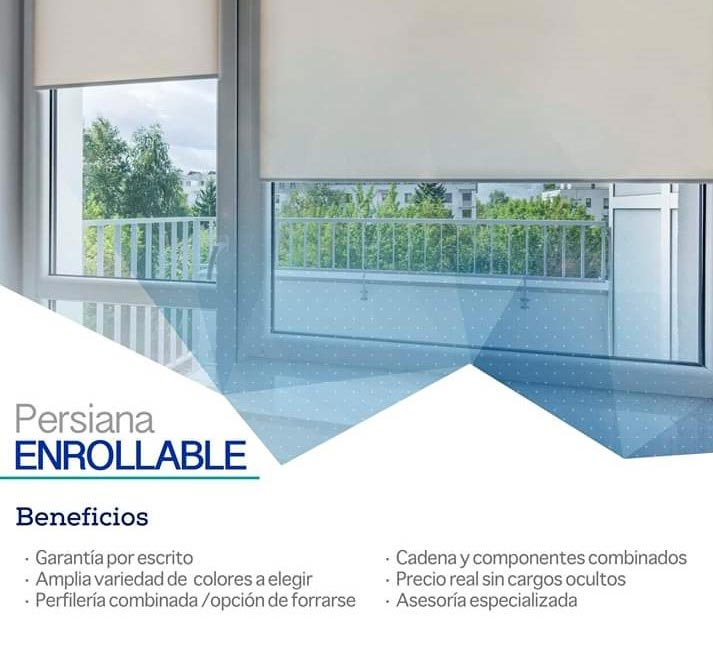 CORTINAS PIELES Y TAPICES - PERSIANA ENROLLABLE