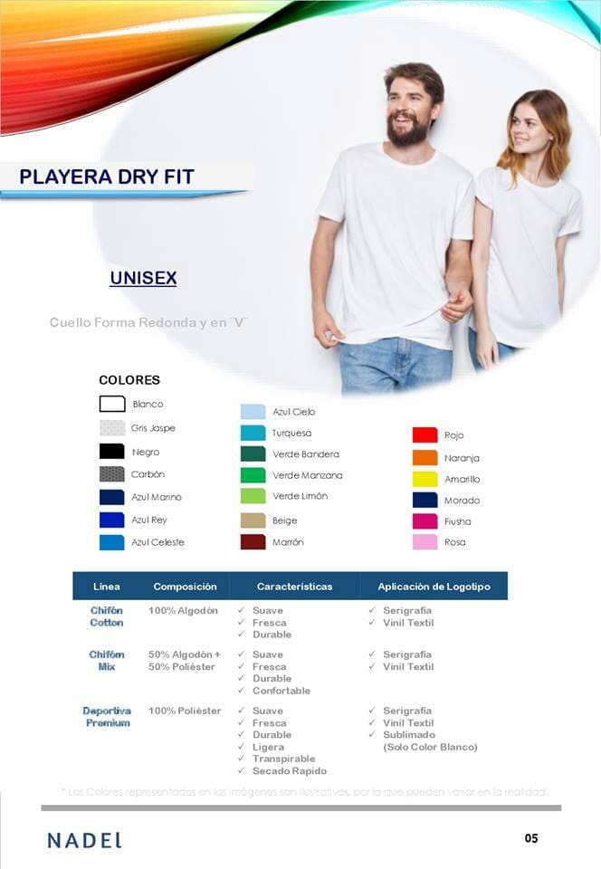 UNIFORMES NADEL - PLAYERA DRY FIT