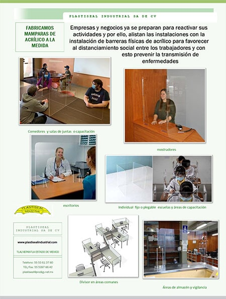 PLASTISEAL INDUSTRIAL S.A. DE C.V - MAMPARAS DE  ACRÍLICO