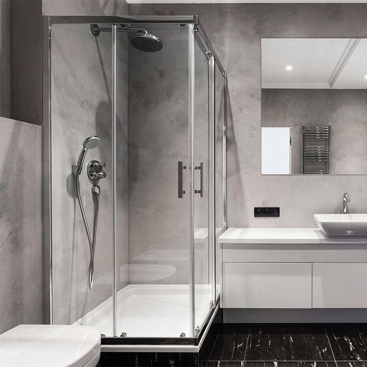 ALUMINIO Y CRISTALES SANTA FE - Cancel para baño