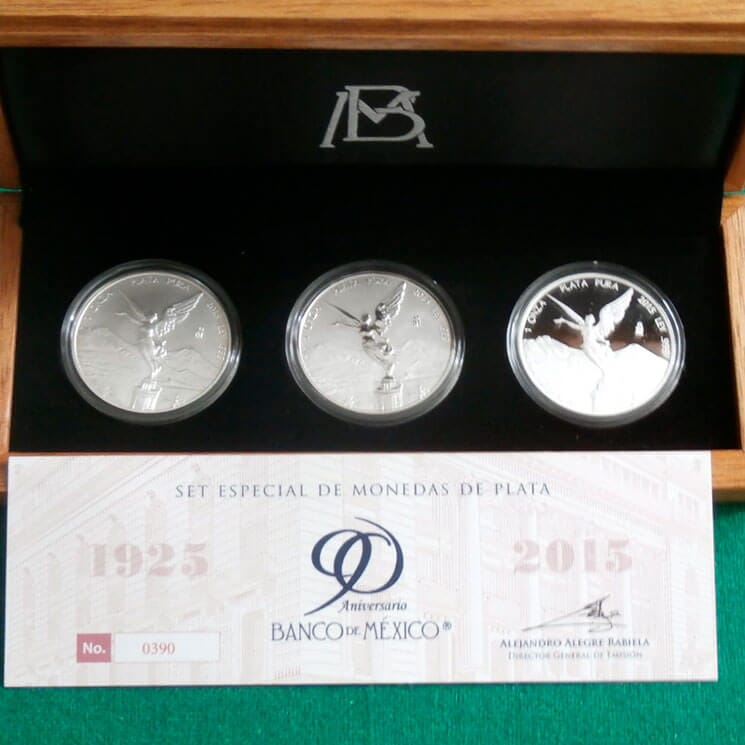 MONEDAS MEXICOLLECTION - SET-DE-MONEDAS-DE-PLATA