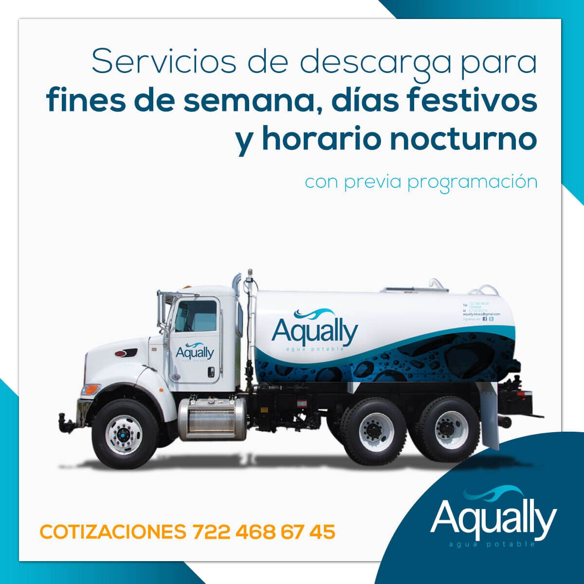 AQUALLY -  Servicios de descarga para fines de semana