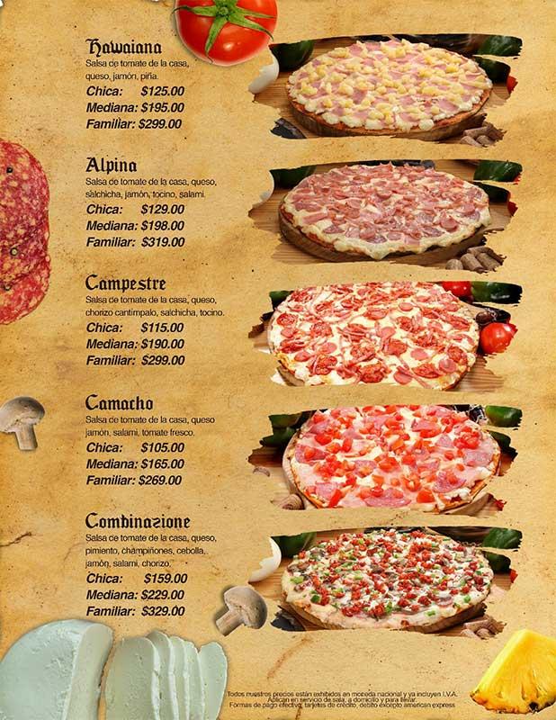DI BARI PIZZERÍA -  MENU PIZZA