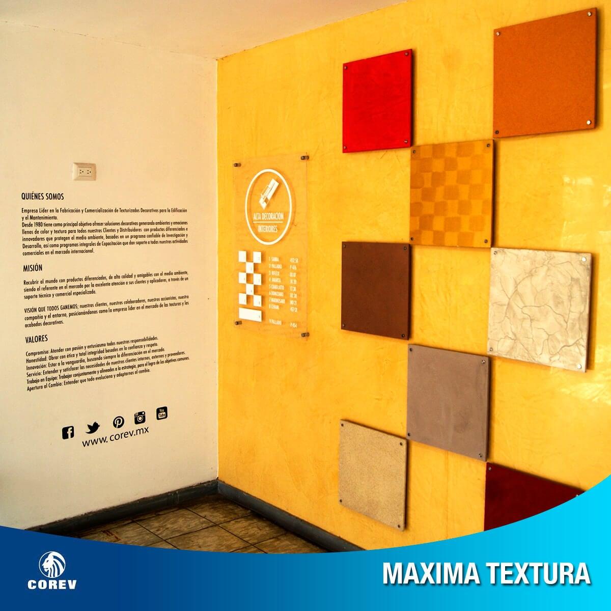 MÁXIMA TEXTURA - Excelentes diseños