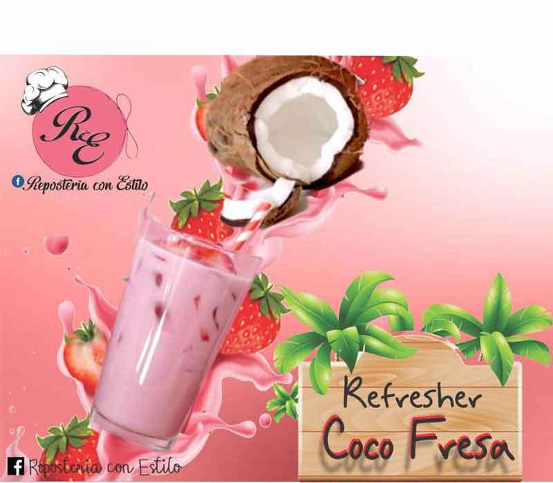 REPOSTERÍA CON ESTILO -  Refresher-Coco-fresa