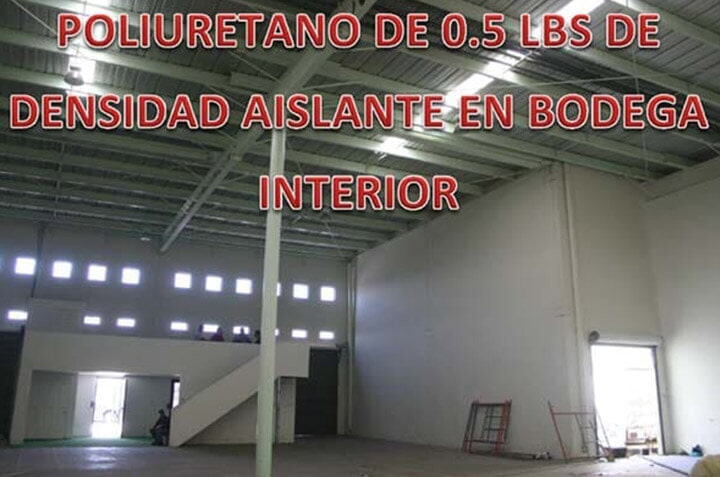 SOLFOAM AND COATINGS - AISLANTE EN BODEGA INTERIOR