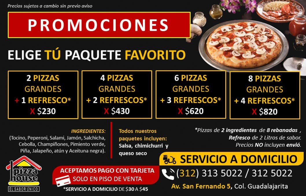 PIZZA HOUSE - PROMOCIONES