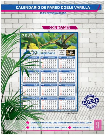 CALENDARIOS DURANGO - impresión de calendarios personalizados