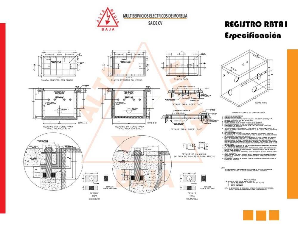 MULTISERVICIOS ELÉCTRICOS DE MORELIA SA DE CV -Ficha-registro-RBTA