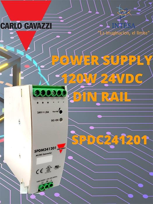 CONTROL Y AUTOMATIZACIÓN INTESA - POWER-SUPPLY-120W-24VDC-DIN-RAIL